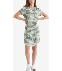 lucky brand cloud camo-print dress