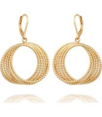 t tahari women's orbital hoop earring