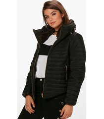 plus padded short jacket, black