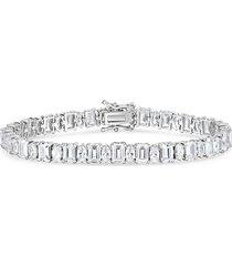 chloe & madison women's sterling silver & cubic zirconia tennis bracelet