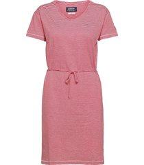 dks linen jersey midi dress dresses t-shirt dresses röd sebago