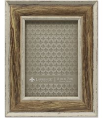 "lawrence frames weathered walnut picture frame - domed top - 5"" x 7"""