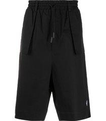 marcelo burlon county of milan exposed-pocket bermuda shorts - black