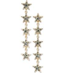 rachel rachel roy gold-tone crystal celestial linear drop earrings