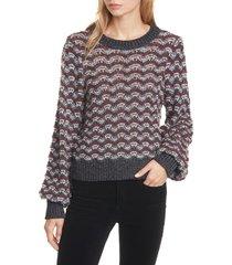 women's veronica beard ruth bishop sleeve sweater, size x-small - black
