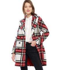 abrigo desigual multicolor - calce holgado