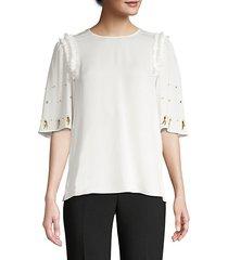 krissy beaded silk blouse