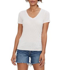 women's michael stars nia v-neck t-shirt, size one size - pink