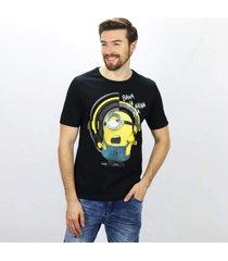 camiseta masculina minions banana emporio alex malha branco