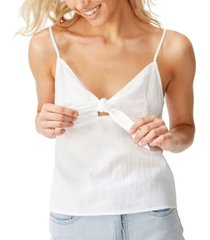 cotton on heat wave tie front cami