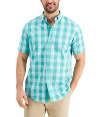 club room men's short sleeve printed shirt, created for macy's