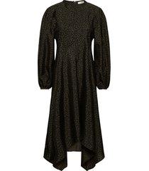 gus, 1034 textured poly maxi dress galajurk groen stine goya