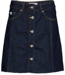 denim a_line skirt kort kjol blå superdry