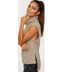 nly trend chunky sleeveless rib top linnen