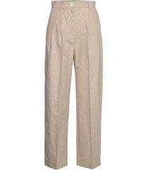 sunna trousers byxa med raka ben beige wood wood