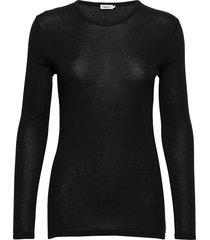 eloise top t-shirts & tops long-sleeved zwart filippa k