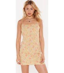 womens flowers that be floral midi dress - lemon