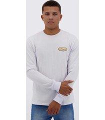 camiseta o'neill reach estampada manga longa branc - masculino