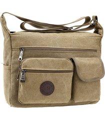 sacchetto di spalla casuale esterno della borsa della traversa della tela di canapa degli uomini