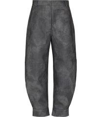 tibi tie-dye tapered-leg cropped trousers - grey