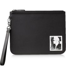 karl lagerfeld designer handbags, karl legend luxury clutch