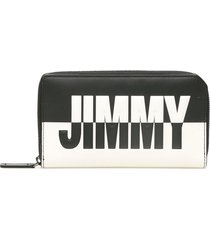 jimmy choo carnaby two-tone wallet with logo