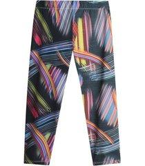leggings sport multicolor color café, talla xs