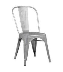 conjunto 06 cadeiras iron aço rivatti prata