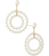 nadri boheme imitation pearl orbital drop earrings in gold at nordstrom