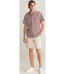 gestreept katoenen regular-fit overhemd