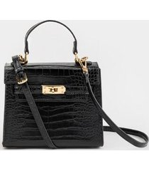 lani mini structured satchel - black
