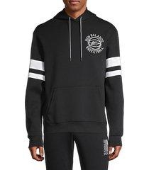 logo cotton-blend hoodie