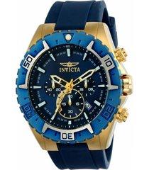 reloj invicta azul modelo 225ae para hombre, colección aviator