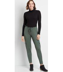maurices womens green ultra soft tie waist jogger pants