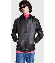 chaqueta desigual asensio negro - calce regular