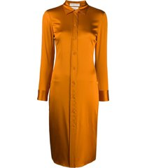 bottega veneta fitted shirt dress - orange