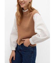 mango knitted shirt sweater