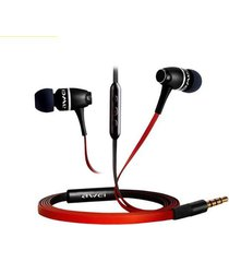 audífonos bluetooth manos llibres, awei 80vi auriculares de metal en el oído auricular estéreo (rojo)
