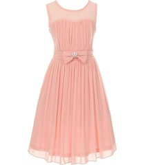 blush sleeveless sweetheart mesh chiffon illusion neckline flower girl dress
