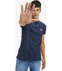 camiseta con parche de tommy jeans negro tommy jeans
