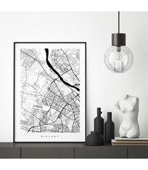 bielany - plakat z planem dzielnicy