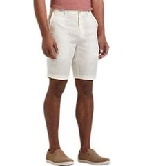 joseph abboud white modern fit linen shorts