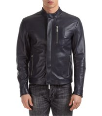 men's leather outerwear jacket blouson