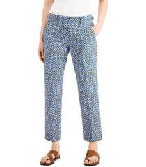 weekend max mara okra printed pants