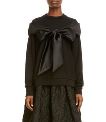 women's simone rocha bow detail sweatshirt
