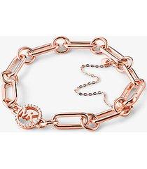 mk bracciale base con catena in argento sterling con placcatura in metallo prezioso - oro rosa (oro rosa) - michael kors