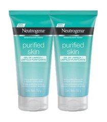 kit 2 gel de limpeza neutrogena purified skin 150g