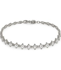 sterling silver, cubic zirconia & diamonique tennis bracelet