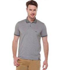 camiseta polo tradicional mescla remo fenut - masculino
