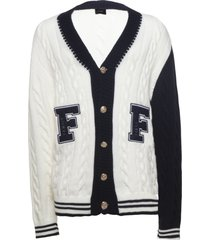 family first milano cardigan college white